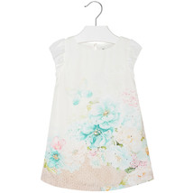 Mayoral Little Girls Sparkle Butterfly-N-Floral Pleated Back Dress