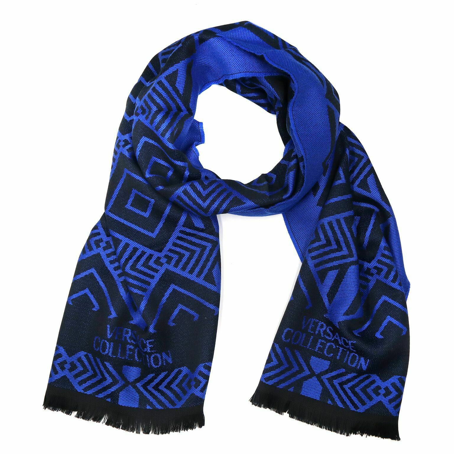 Primary image for Versace Collection Black & Royal Blue Mens Scarf ISC40R1WIT02856I4071