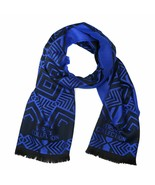 Versace Collection Black & Royal Blue Mens Scarf ISC40R1WIT02856I4071 - $125.00