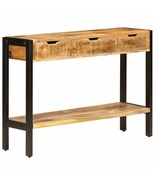 vidaXL Solid Mango Wood Sideboard with 3 Drawers Console Side Drawer Sto... - $155.99