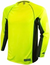 New DEWALT Neon Yellow Long Sleeve INDUSTRIAL SAFETY SHIRT Made in USA N... - $23.19