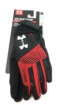 Under Armour Clean Up Batting Gloves YOUTH Small Black Red YSM Baseball Gloves  - $14.64