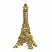 Kurt Adler Eiffel Tower Christmas Tree Ornament for Holidays, Gold Glitter - $6.39