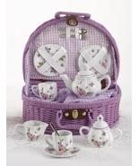Delightful Delton Child's 'Butterfly Tea Set for Two, Posh Purple Basket... - ₨2,544.12 INR
