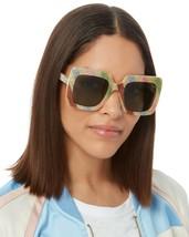 Gucci GG0328S 004 Multicolor Green Women's Square Sunglasses 53mm Authentic  - $169.00