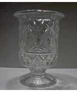 "Shannon Crystal Hurricane Taper Candle Holder 8 3/4 ""~ From Poland - $41.00"