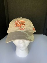 Myrtle Beach SC Beige Orange Strap Back Lucky 777 Baseball hat cap - $13.86