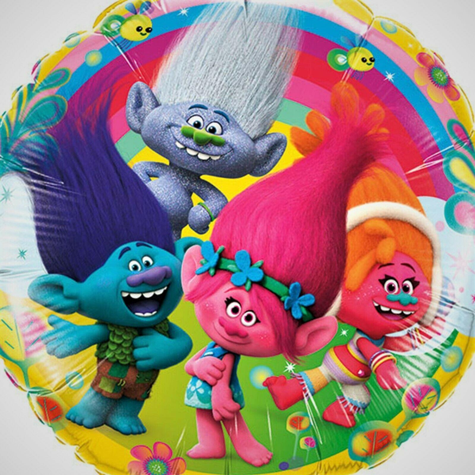 "2 x 18"" Trolls The Movie Dreamworks Refillable Foil Mylar Party Balloon - $11.70"