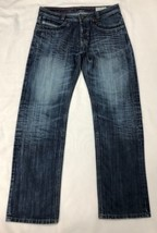 "Diesel Hongkong Men Blue Button Fly Jeans Wash 0087J Size 36x33"" - $45.05"
