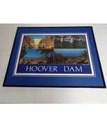 VINTAGE Hoover Dam Arizona Nevada Framed 16x20 Poster Display - $79.19
