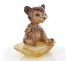 Hagen Renaker Miniature Baby Bear Cub Sitting on Base Stepping Stones #2762 image 8