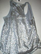 Womens Gap Top S New NWT Silver Sequin Tank Blouse Lined Hi Low Small Pretty image 5