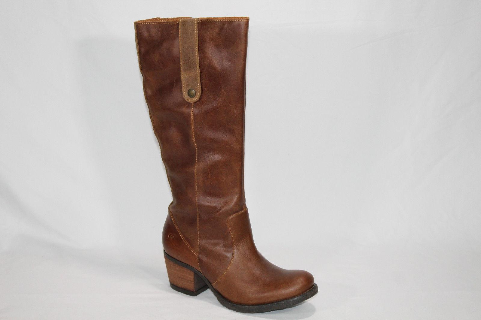 "Born ""Carney"" Leather Block Heel Tall Boot Size:6.5 US / 37 Euro"