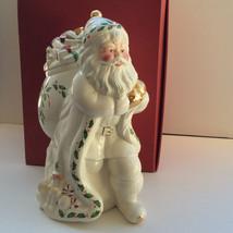 Lenox Holiday Santa Large Cookie Jar For The Holidays Knapsack Toys Skat... - $69.29