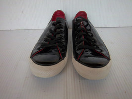 Converse All Stars Black Patent Leather Low Top Sneakers Tennis Shoes M6/L8 - $21.99