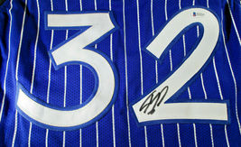 SHAQUILLE O'NEAL / AUTOGRAPHED ORLANDO MAGIC PINSTRIPED CUSTOM JERSEY / BECKETT image 3