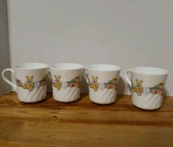 Vintage TeddyBear CorningWare USA Mugs/ Set of 4/Excellent condition  - $18.70