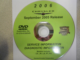 2006 Chrysler Pacifica Sebring 300 Pt Cruiser Service Manual Dvd Cd Sep05 06 - $94.00