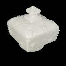 Vtg Paneled Grape Covered Candy Dish Westmoreland White Milk Glass - $26.95
