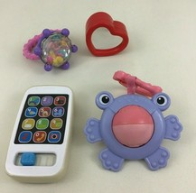 Baby Girl Toddler Toy 4pc Lot Ring Rattle Mirror Ball Phone Toys Fisher ... - $13.32