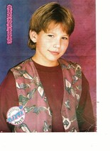 Jonathan Taylor Thomas teen magazine pinup clipping red vest Tiger Beat Bop