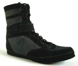 Excellent Reebok Boxing Buck Mens Boot Black / Ash Grey Sz 9 - $98.99