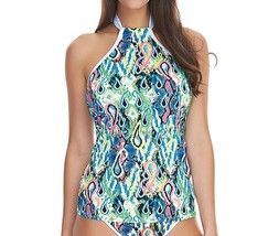 Freya Evolve AS4448 WP Underwired Padded High Neck Tankini Top Multi (MUI) - $41.19