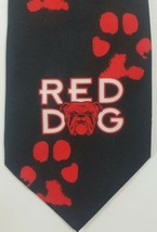 "Vintage Red Dog II Men's Neck Tie Ralph Marlin Black Red 1996 56 3/4"" x 3 1/2"" - $14.54"