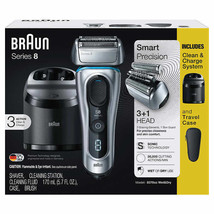 Braun Series 8 Electric Shaver Model # 8370cc Sonic Technology Wet & Dry... - $185.00