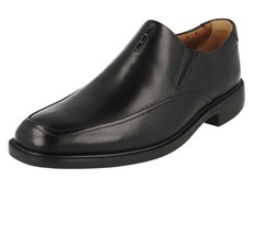 Clarks Mens 8 UnStructured Shoes 'Unbizley Lane' Black Free Shipping - $121.55