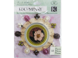 K&Company Decorative Pins, Set of 12 #30-599482