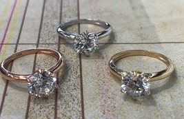 2.00 Carat Created Diamond 14K White Yellow Or Rose Gold Engagement Ring - $242.20