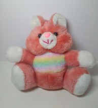 "Vintage MTY International Plush Stuffed Cat 10"" Rainbow Coral Pastel Pin... - $39.59"