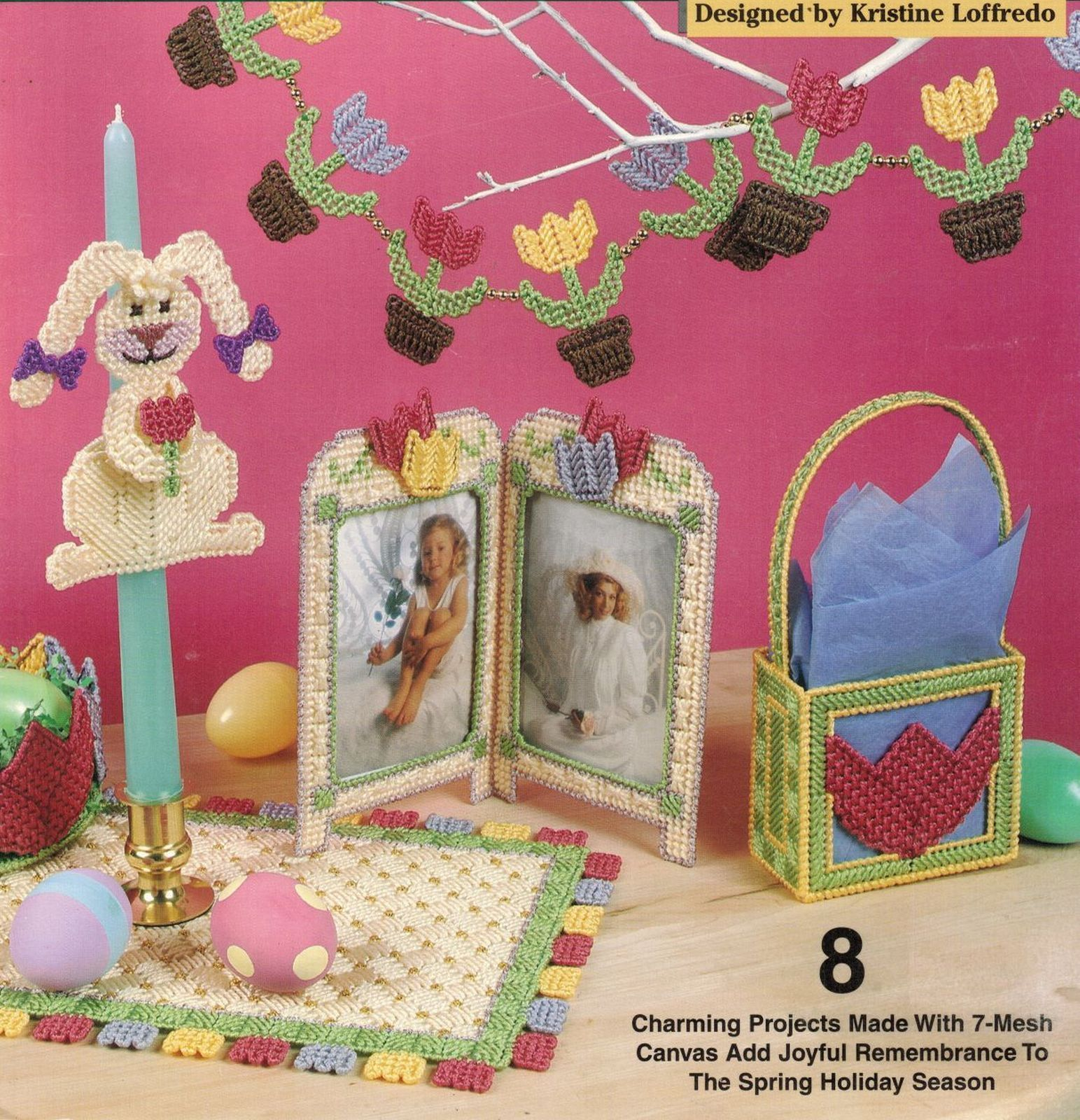 Primary image for Plastic Canvas Easter Bunny Door Decor Tissue Cover Garland Place Mat Pattern