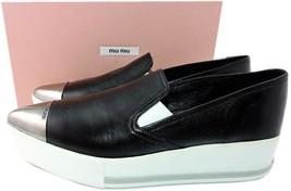 Miu Miu- Prada Leather Skate Sneakers 41 Shoes Pointy Toe Espadrilles Lo... - $267.00
