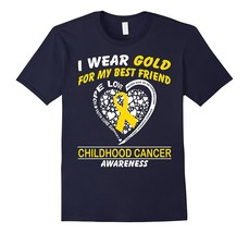 For My Best Friend Childhood Cancer Awareness T-Shirt Men - $17.95+