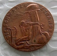 Germany 1920 Commemorative Coin The Black Shame Medal 100% Copper Casted... - $11.99