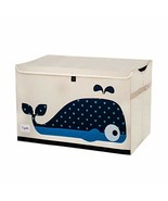3 Sprouts Kids Toy Chest - Storage Trunk for Boys and Girls Room, Whale - $30.38