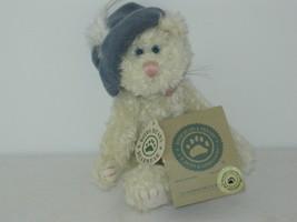 Boyd's Bear ..Claudine De La Plumtete.... cream cat with blue hat with f... - $12.20