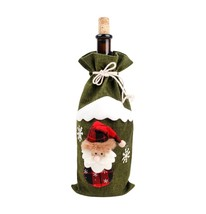 Christmas Decorations for Home Santa Claus Wine Bottle Cover Snowman Sto... - $15.00