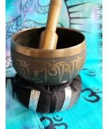 Tibetan 3 Inch Singing Bowl w/ Striker & Black Cushion Made of 7 Metals sb8 - $21.55