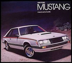 1980 Ford Mustang Dlx Brochure- Ghia, Cobra, MINT! Original 80 - $5.25