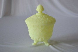 Fenton Custard Satin Baroque #9388 Covered Candy Dish - $22.28