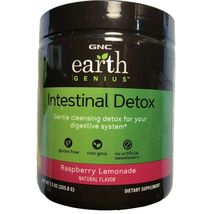 GNC Earth Genius INTESTINAL DETOX Raspberry Lemonade 14 servings exp.06/... - $27.80