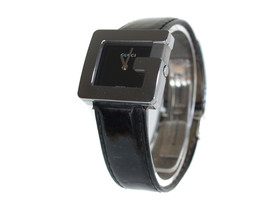 """Auth GUCCI 3600L """"G Series"""" Black Dial Leather Band Watch GW13875L - $290.59 CAD"""
