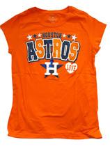 Houston Astros Girls V-Neck T-Shirt, Orange, 14/16 - $11.87