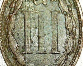 Nickel Three-Cent  1866 AA20-CNP2139 Antique image 2