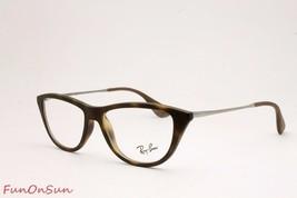 Ray Ban Eyeglasses RB7042 5365 Matte Havana Cat Eye Frame 52mm Authentic - $96.99