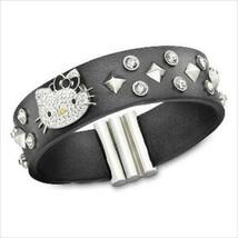 SWAROVSKI X Hello Kitty Auth 1145284 Rock Leather Bracelet Used from Japan - $325.27