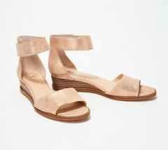 Vince Camuto Suede Two-Piece Sandals - Rejjie Natural 6.5 W - $79.19